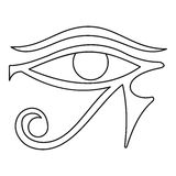 Eye of Horus icon, outline style Stock Photo