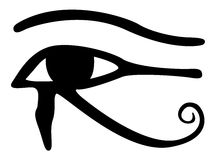 Eye of Horus. On a white background Stock Images