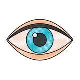 Eye human isolated icon Stock Image