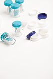 Eye Hygiene Care - set of contact lens cases Royalty Free Stock Images