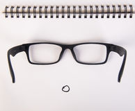 Eye i vetri vetri dell'occhio con il concetto sui precedenti Fotografia Stock Libera da Diritti