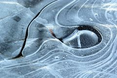 Eye in Ice. Sculpture out of Ice in shape of a Wale Eye Royalty Free Stock Photo