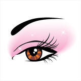 Eye icon. Close-up eye icon - illustration royalty free illustration