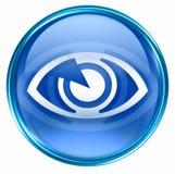 Eye icon blue Stock Photo