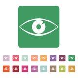 The eye icon. Eye symbol. Flat Vector Stock Photography