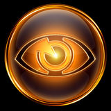 Eye icon golden. Royalty Free Stock Images