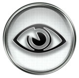 Eye icon grey Royalty Free Stock Photography