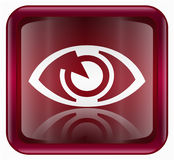 Eye icon red Royalty Free Stock Photo