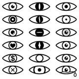 Eye icon set. Set of vector eyes. Vector. Eps10 Royalty Free Stock Image