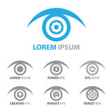 Eye icon symbol set Stock Images