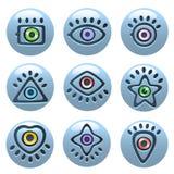Eye icons Royalty Free Stock Images