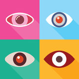 Eye Icons Royalty Free Stock Photography