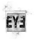 The eye of illuminati. The illuminati symbol in a square A ritual design Royalty Free Stock Images