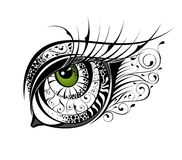 Eye illustration Stock Images