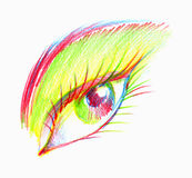 Eye Illustration Royalty Free Stock Images