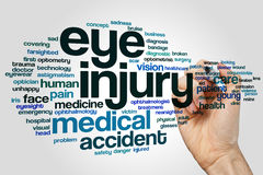 Eye injury word cloud. Concept royalty free stock photography