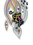 Eye. ink blots graphics Royalty Free Stock Image