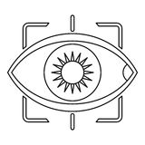 Eye with integrated camera lens icon outline style Royalty Free Stock Photos