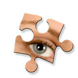 Eye jigsaw piece Stock Photos