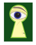 Eye_in_Keyhole Royalty Free Stock Photo
