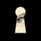 Eye and keyhole Royalty Free Stock Photo