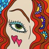eye kvinnan Fotografering för Bildbyråer