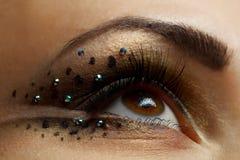 eye kvinnlign Fotografering för Bildbyråer