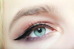 eye kvinnlign Arkivfoto