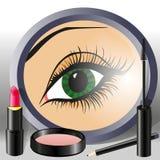 eye kvinnlign Vektor Illustrationer
