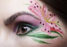 Eye l'arte di corpo di zona Immagini Stock