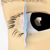 Eye la grieta (el vector) Foto de archivo