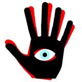 Eye la mano Fotografía de archivo
