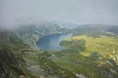 The Eye lake before storm, The Seven Rila Lakes Stock Images