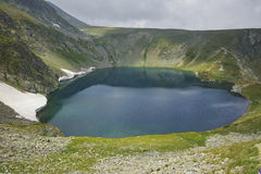 The Eye lake before storm, The Seven Rila Lakes Royalty Free Stock Photos