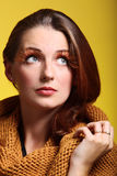 Eye-lashes för glamour för flicka för höstkvinna nya Fotografering för Bildbyråer