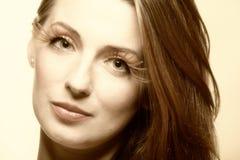 Eye-lashes för glamour för flicka för höstkvinna nya Royaltyfri Bild
