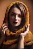 Eye-lashes för glamour för flicka för höstkvinna nya Arkivfoto