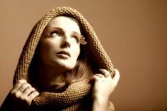 Eye-lashes freschi di fascino della ragazza della donna di autunno Fotografia Stock Libera da Diritti