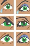 Eye le icone Fotografie Stock