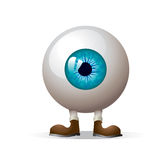 Eye with legs. Vector illustration of eye with legs isolated on white vector illustration