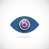 Eye Lens Abstract Vector Concept Symbol Icon or Royalty Free Stock Photography