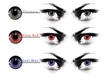 Eye lens shade chart Stock Image
