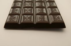 End View of a Chocolate Bar Royalty Free Stock Image