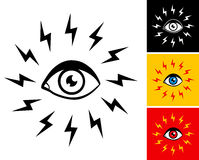 Eye and lightning Stock Photos