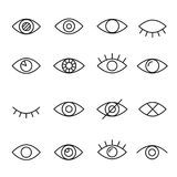 Eye line icon. Human organ of sight in different positions, visual system in graphic design. Vector line art illustration isolated on white background Royalty Free Stock Image