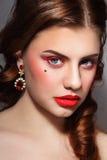 Eye-liner rosso Fotografia Stock