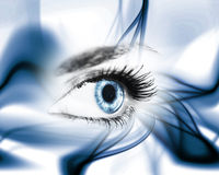 Eye and lines Royalty Free Stock Image