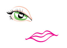 Eye and lips Royalty Free Stock Photo