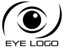 Eye logo. Logo for eye hospital and eye care centres Stock Image