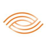 Eye logo. Reversible eye logo in orange tone Stock Image